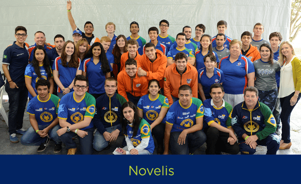 FIRST Robotics teams sponsored by Novelis in Brazil to support future STEM careers