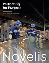 Novelis Sustainability 2016 Cover